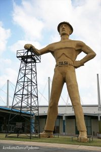 ルート66タルサ ゴールデン・ドリラー像